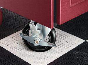 Garage cabinet wheels