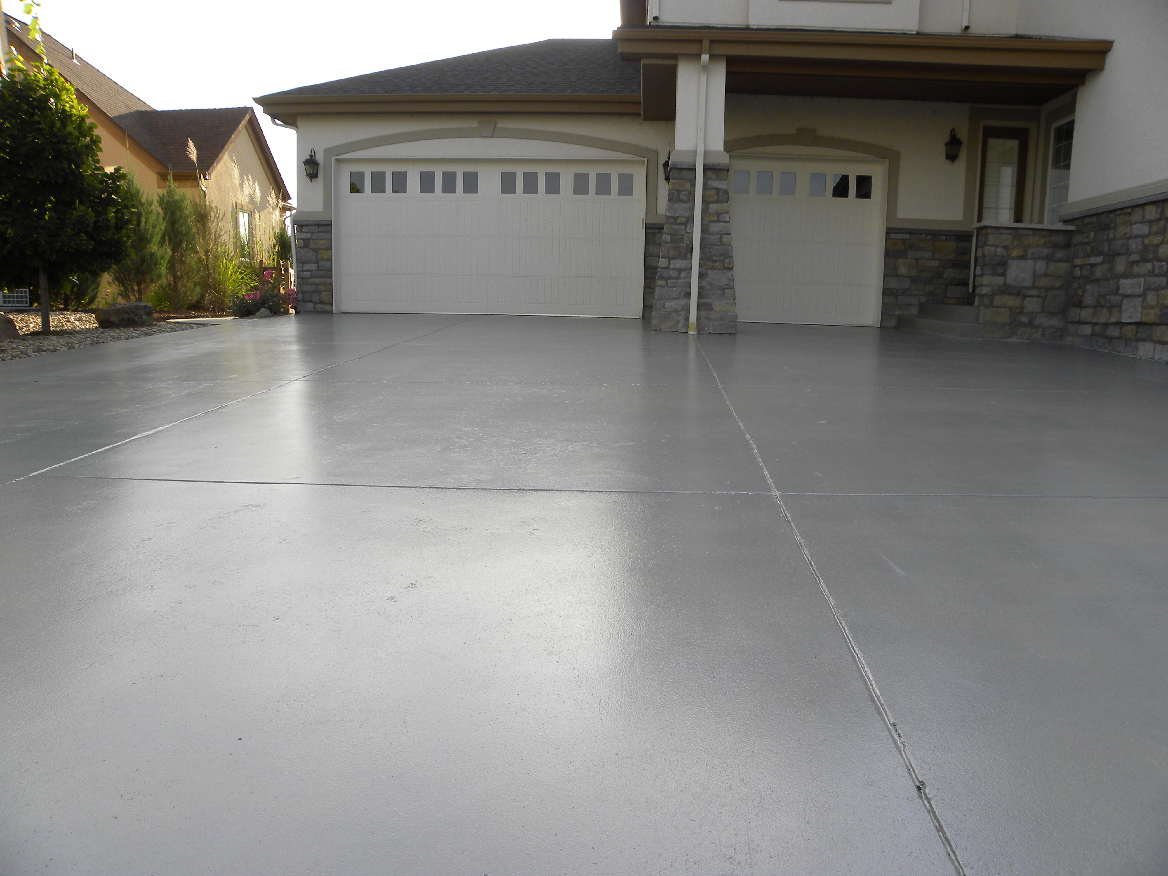 Outdoor Walkway With Garage Floor Coating