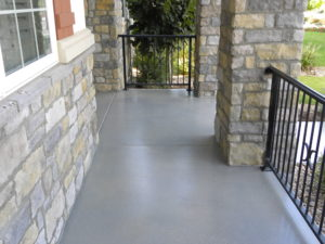 garage flooring for deck with stone