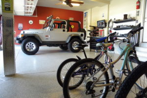 Jeep rubicon global garage flooring remodel