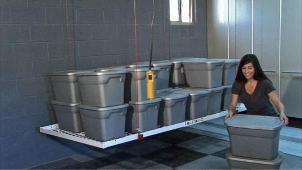 Motorized Ceiling Storage 04 Global Garage Flooring