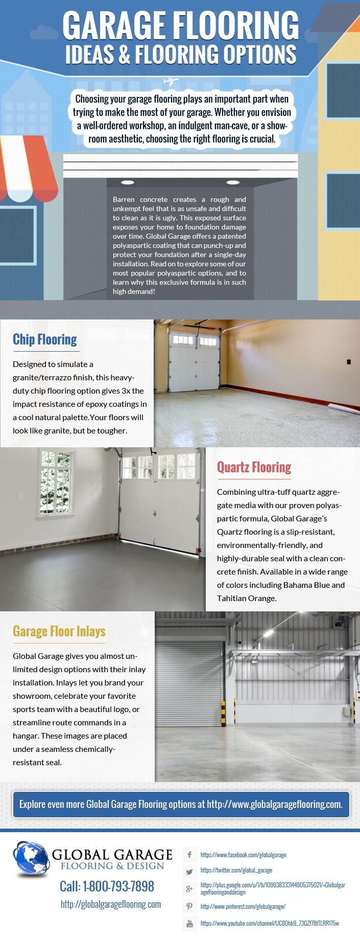 infographic garage flooring ideas
